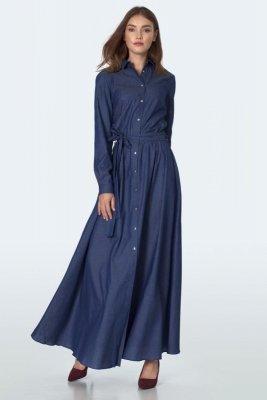 Jeansowa sukienka maxi - S157