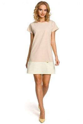 M100 Sukienka mini tunika - beżowa