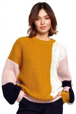 BK066 Sweter wielokolorowy - model 1