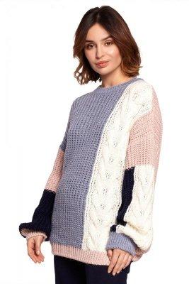 BK066 Sweter wielokolorowy - model 3