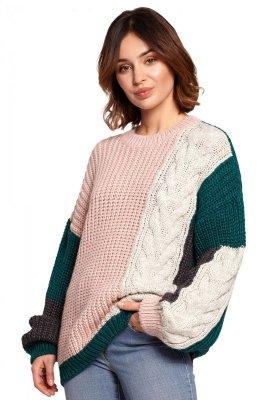 BK066 Sweter wielokolorowy - model 4