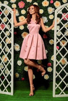 1  Sukienka L257 pudrowy róż PROMO