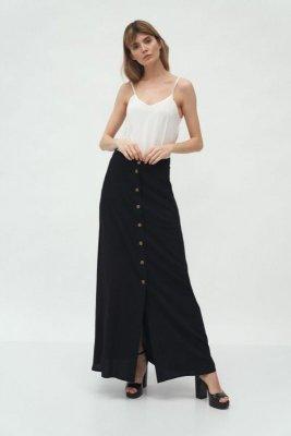 Czarna długa spódnica z wiskozy - SP58