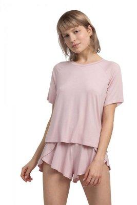 LA044 Wiskozowa bluzka do spania - różowa
