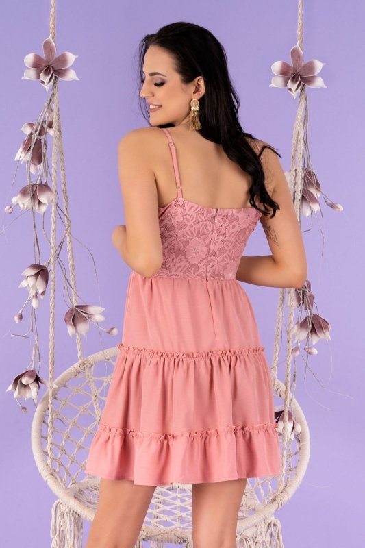 Satrian Dusty Rose D53 sukienka