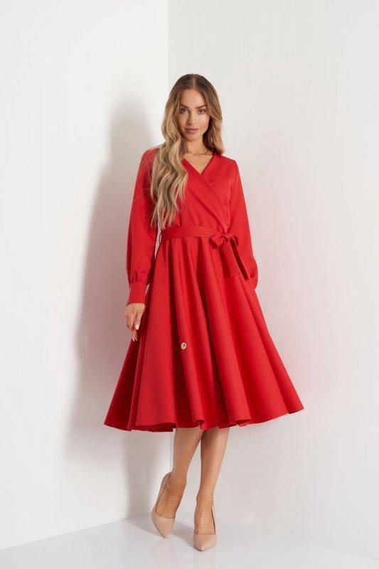 Sukienka L392A czerwony