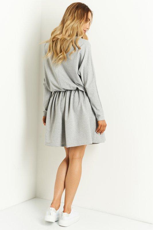 Sukienka L407 jasnoszary