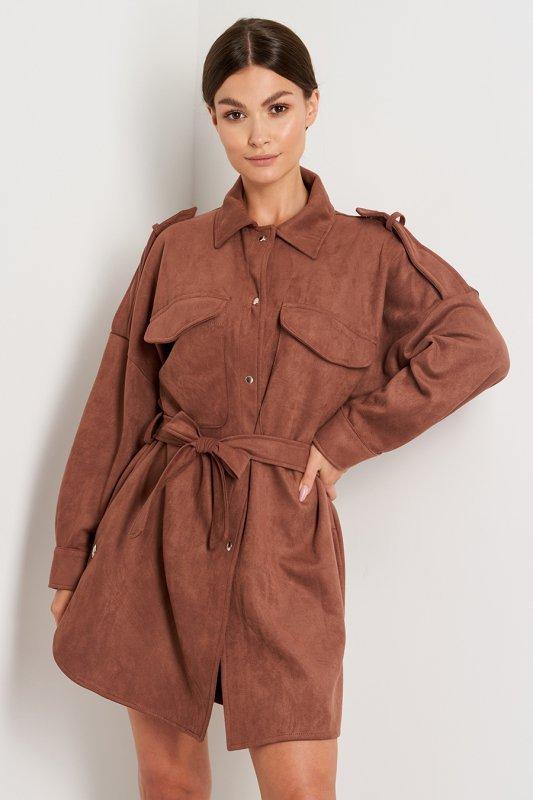 Koszula L405 czekolada