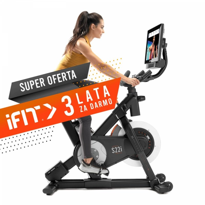 Rower spiningowy NordicTrack Commercial S22i + 3 lata członkostwa  iFit