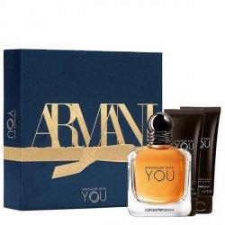 Emporio Armani Stronger With You Set - EDT 100 ml + SG 75 ml + SG 75 ml