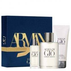 Giorgio Armani Acqua di Gio pour Homme Zestaw - EDT 100 ml + EDT 15 ml + SG 75 ml