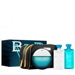 Bvlgari Aqua Pour Homme Zestaw - EDT 100 ml + ASB 75 ml + SG 75 ml + kosmetyczka