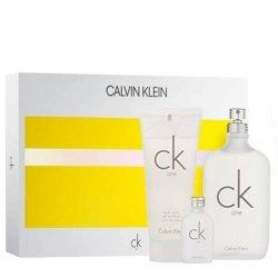 Calvin Klein CK One Zestaw - EDT 100 ml + EDT 15 ml + SG 100 ml