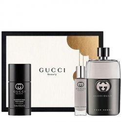 Gucci Guilty pour Homme Zestaw - EDT 90 ml + EDT 15 ml + DST 75 ml
