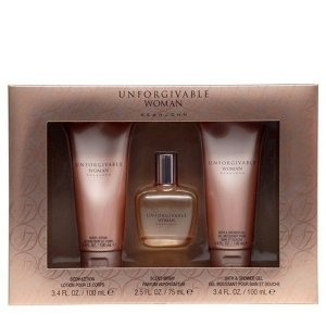 Sean John Unforgivable Woman Zestaw - EDP 75 ml + BL 100 ml + SG 100 ml
