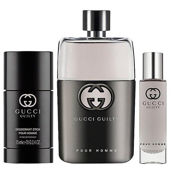 Gucci Guilty pour Homme Set - Eau de Toilette 90 ml + Eau de Toilette 15 ml + Deodorant Stick 75 ml