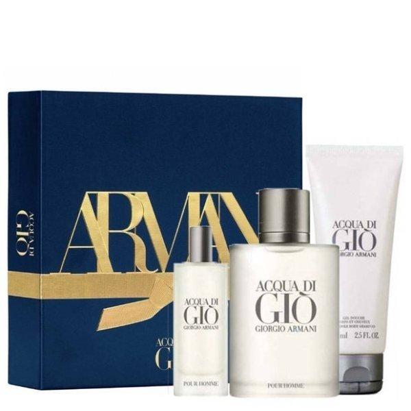 Giorgio Armani Acqua di Gio pour Homme Set -  Eau de Toilette 100 ml + Eau de Toilette 15 ml + Shower gel 75 ml
