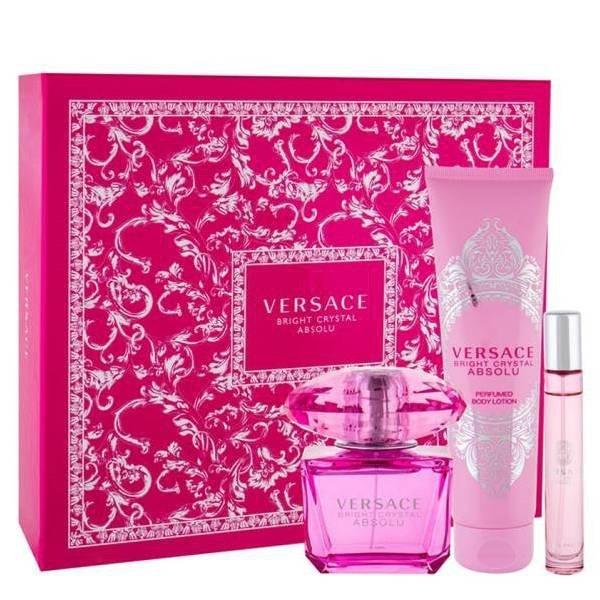 Versace Bright Crystal Absolu Set - Eau de Parfum 90 ml + Eau de Parfum 10 ml + Perfumed Body Lotion 150 ml