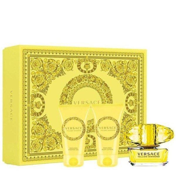 Versace Yellow Diamond Set - Eau de Toilette 50 ml + Body Lotion 50 ml + Shower Gel 50 ml