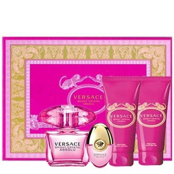 Versace Bright Crystal Absolu Set - Eau de Parfum 90 ml + Eau de Parfum 10 ml + Perfumed Body Lotion 100 ml + Perfumed Shower Gel 100 ml