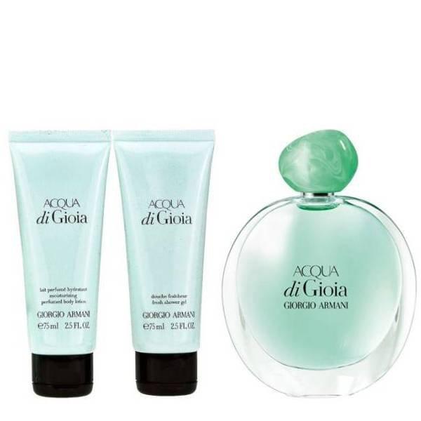 Giorgio Armani Acqua di Gioia Set - Eau de Parfum 100 ml + Body Lotion 75 ml + Shower Gel 75 ml