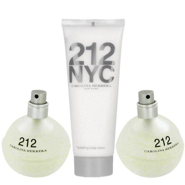 Carolina Herrera 212 NYC Set - Eau de Toilette 100 ml + Body Lotion 100 ml