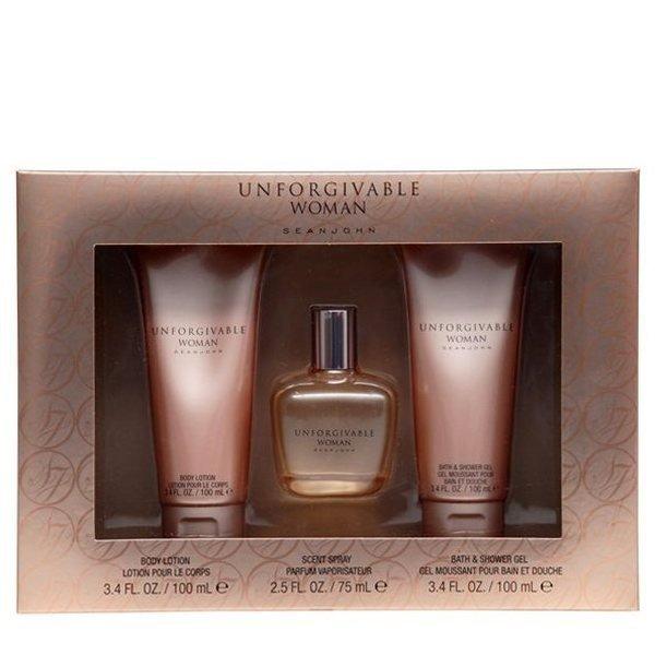 Sean John Unforgivable Woman Set - Eau de Parfum 75 ml + Body Lotion 100 ml + Shower Gel 100 ml