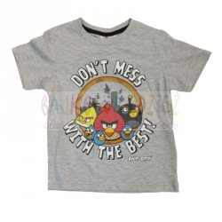 T-shirt Angry Birds - kolor  szary