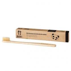 ZUZII Bambusowa szczoteczka do zębów dla dzieci, beżowa