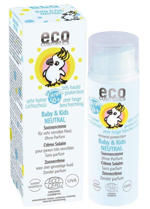 Eco Cosmetics Krem na słońce faktor SPF 50+ dla dzieci i niemowląt NEUTRAL 50 ml