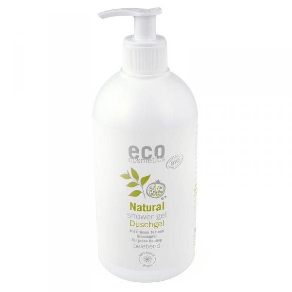 Eco Cosmetics Żel pod prysznic z zieloną herbatą i owocem granatu 500 ml z pompką