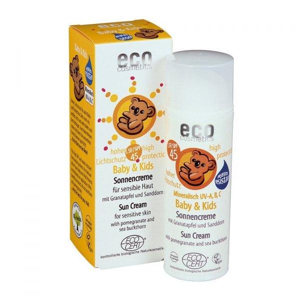 Eco Cosmetics Krem na słońce faktor SPF 45 dla dzieci i niemowląt 50 ml