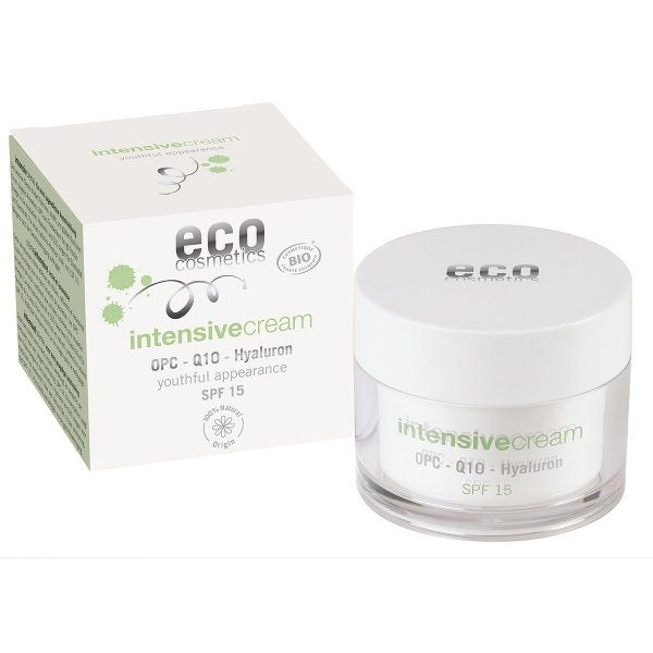 ECO Cosmetics ECO INTENSIVE Krem intensywnie pielęgnujący SPF 15 z OPC, Q10 i kwasem hialuronowym 60ml