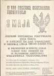 W 190 ROCZNICĘ uchwalenia Konstytucji 3 Maja. Zostanie odprawiona pontyfikalna msza święta w katedrze św. Jana w Warszawie w niedziele 3 maja 1981 ad o godz. 11-ej. W przeddzień w sobotę 2 maja o godz. 18-ej odbędzie sie w filharmonii narodowej wieczornic