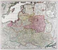 [POLSKA]. Poloniae Regnum ut et Magni Ducatus Lithuaniae Accuratiss. Delineatione.