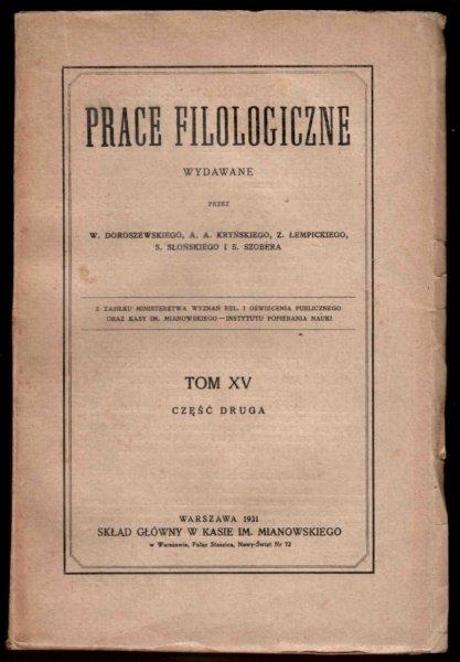 Prace Filologiczne. T.15, cz.2.
