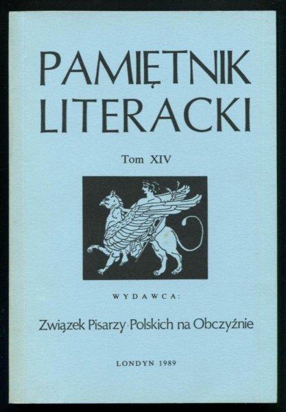 Pamiętnik Literacki. T. 14.