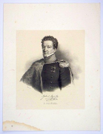 [POWSTANIE LISTOPADOWE] Gabriel Ogiński - portret - litografia [1832]
