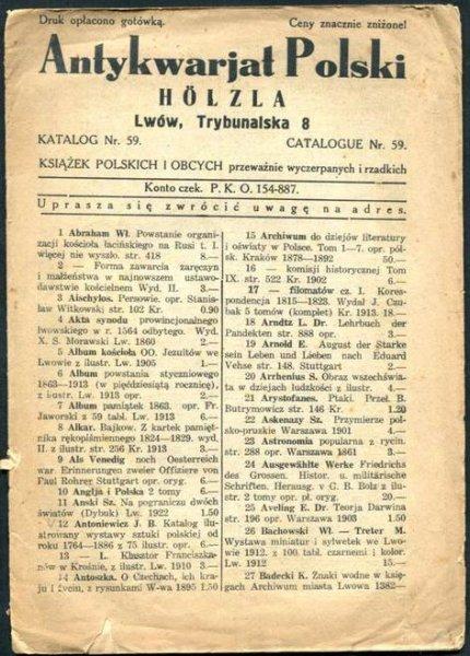 Antykwariat Polski Holzla - katalog nr 59