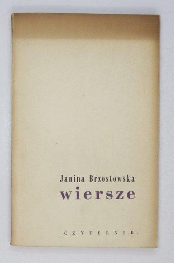 BRZOSTOWSKA Janina - Wiersze.