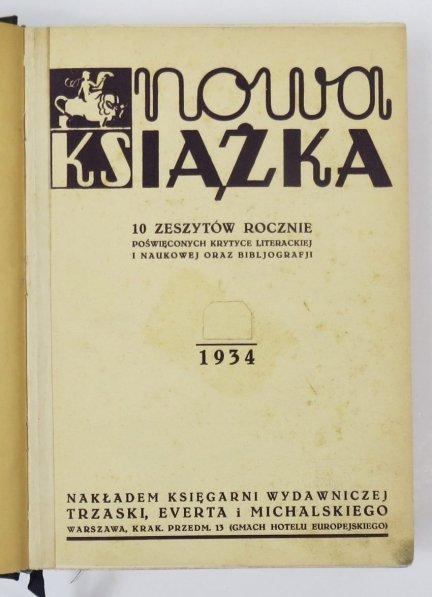 Nowa Książka. R. 1: 1934.