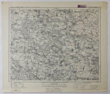 426. Pitschen-Bolesławiec - mapa 1:100 000 [Karte des Deutschen Reiches. (Ausgabe fur Grenzschutzzwecke]