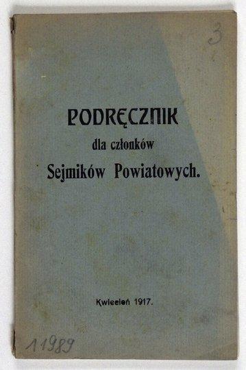 PODRĘCZNIK dla członków Sejmików Powiatowych.