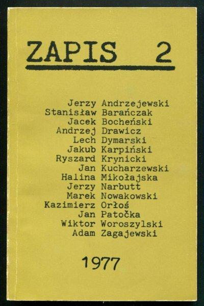 Zapis: poezja, proza, eseje. [R. 1], nr 2: IV 1977.