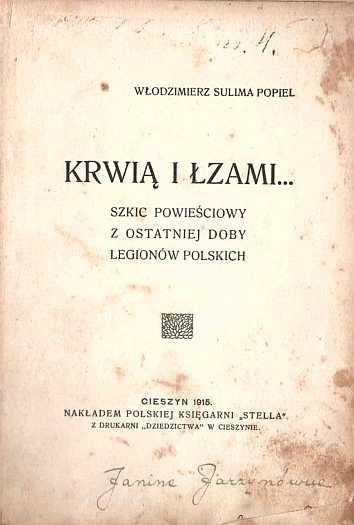 SULIMA-POPIEL Włodzimierz - Krwią i łzami