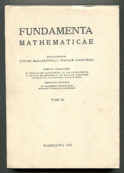 Fundamenta Mathematicae. Redaktorowie: Stefan Mazurkiewicz i Wacław Sierpiński. T.11 [1960]