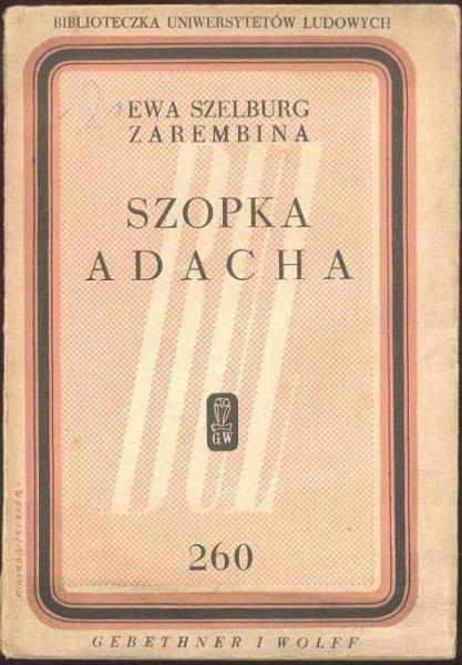 Szelburg-Zarembina Ewa - Szopka Adacha.