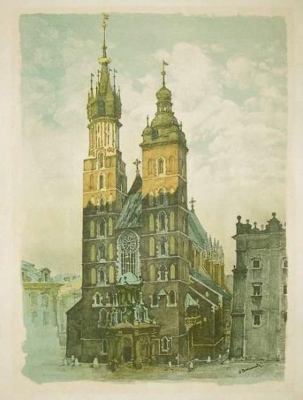 GUMOWSKI Jan — Kraków. Z. 1. Kraków 1929. Litogr. Fr. Zielińskiego i Sp.