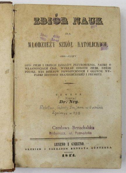 Ney Karol - Zbiór nauk dla Młodzieży szkół katolickich.