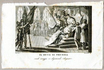 Il Duca Di Prussia - miedzioryt 1831